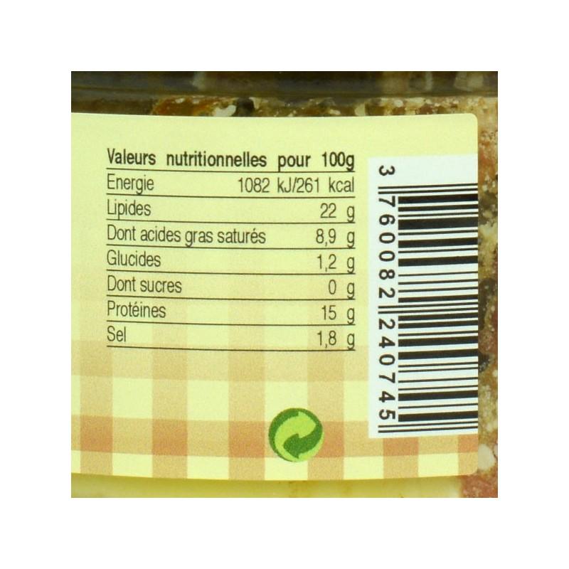 Paté du Dimanche 20% foie gras - 180 gr