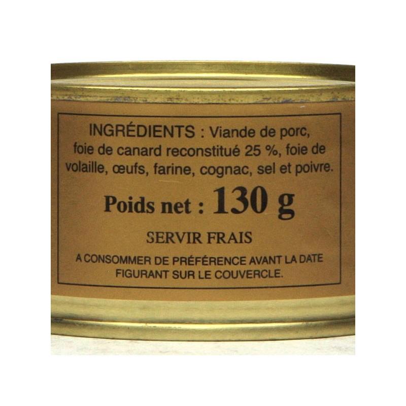 Délice du Quercy 25% foie gras - 130gr