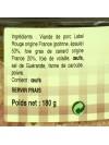 L'authentique pâté du Quercy 20% foie gras - 180 gr