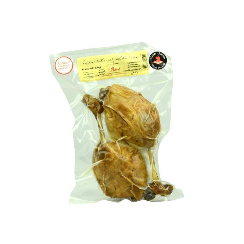 2 cuisses de canard confites dorées au four