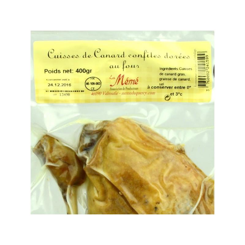 2 cuisses de canard confites dorées au four - 400 gr