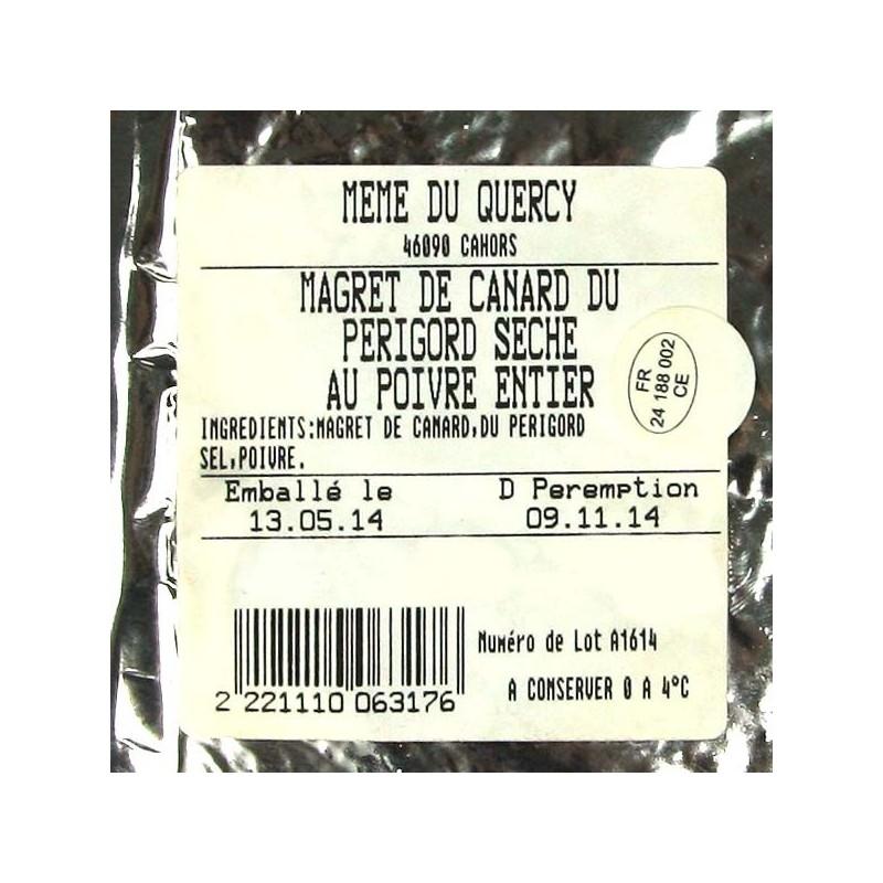 Magret de Canard du Périgord séché au poivre - 300 gr