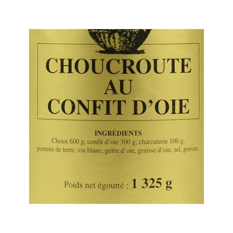Choucroute au Confit d'oie - 1325 gr