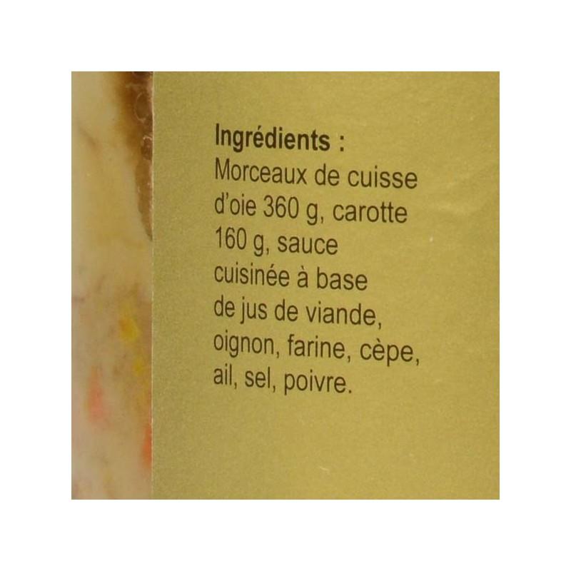 Fricassée d'oie sauce aux cèpes - 800 gr