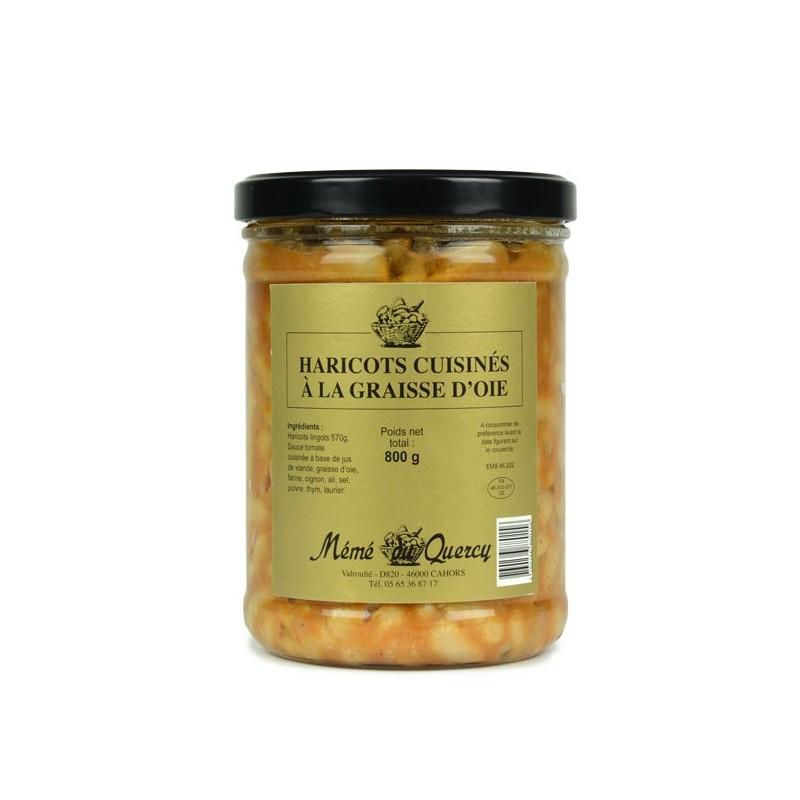 Haricots Blancs cuisinés à la Graisse d'Oie - 800 gr