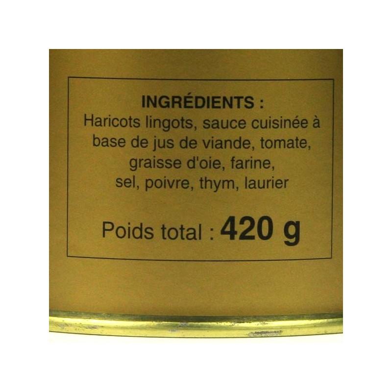 Haricots Blancs cuisinés à la Graisse d'Oie - 420 gr
