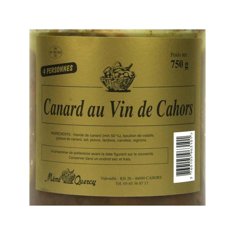 Canard au vin de Cahors - 750 gr