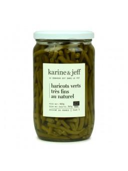 Haricots verts BIO très fins au naturel - 660 gr