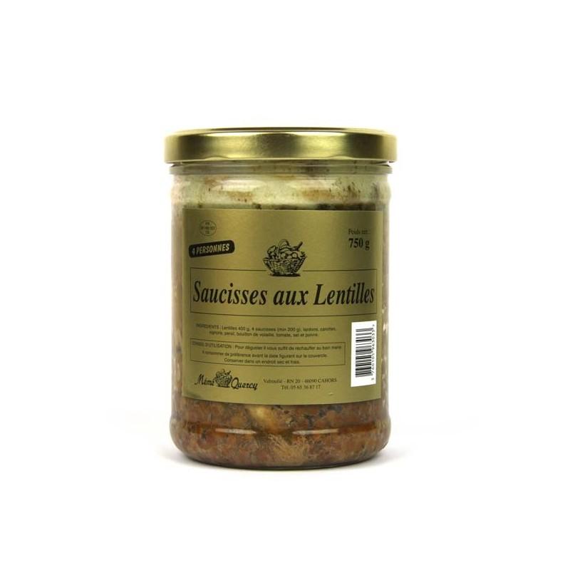 Saucisses aux lentilles - 750 gr