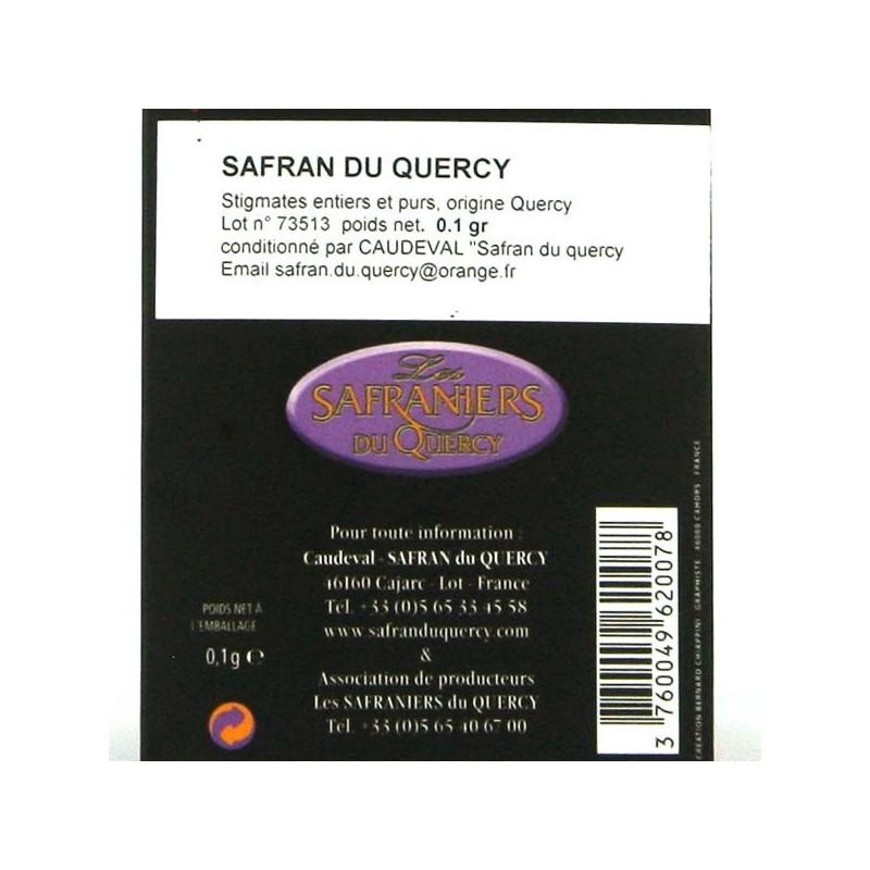Safran du Quercy, Stigmates de safran entiers et purs - 0.1 gr
