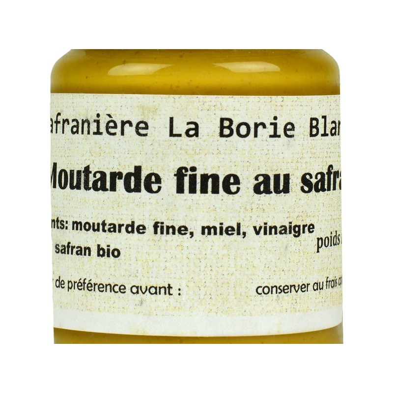 moutarde fine au Safran du quercy - 100 gr