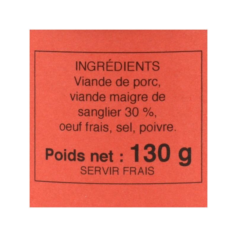 Pâté de sanglier - 130 gr