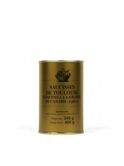 Saucisses de Toulouse confites à la graisse de canard - 4 pièces