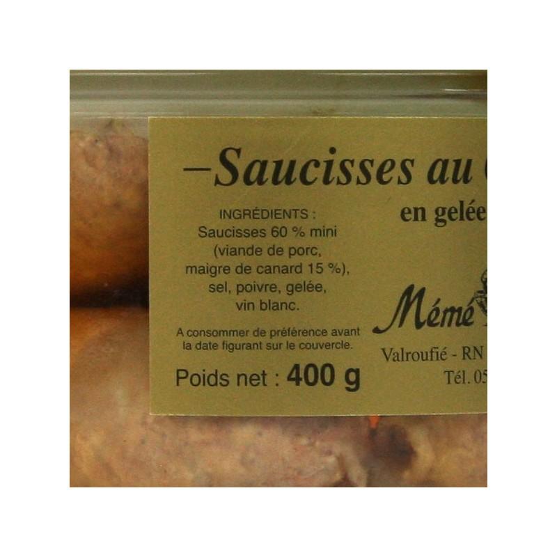Saucisses au canard confites - 400 gr