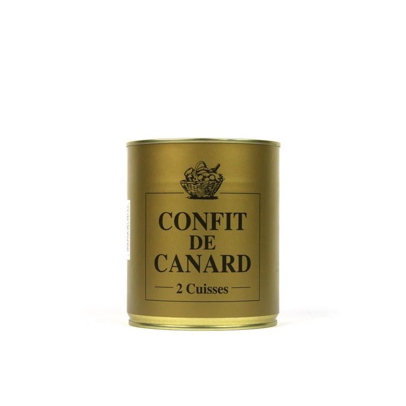 2 cuisses Confit de Canard IGP du sud ouest