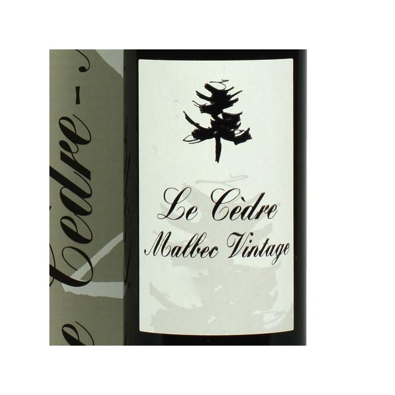 Le Cèdre Malbec Vintage - 50 cl