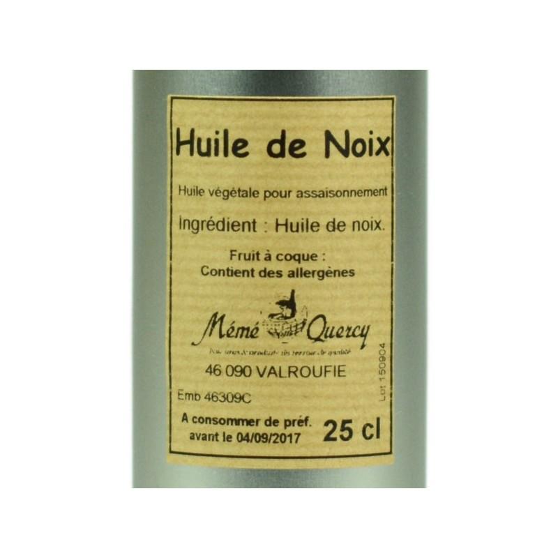 Huile de noix - Bidon 25 cl