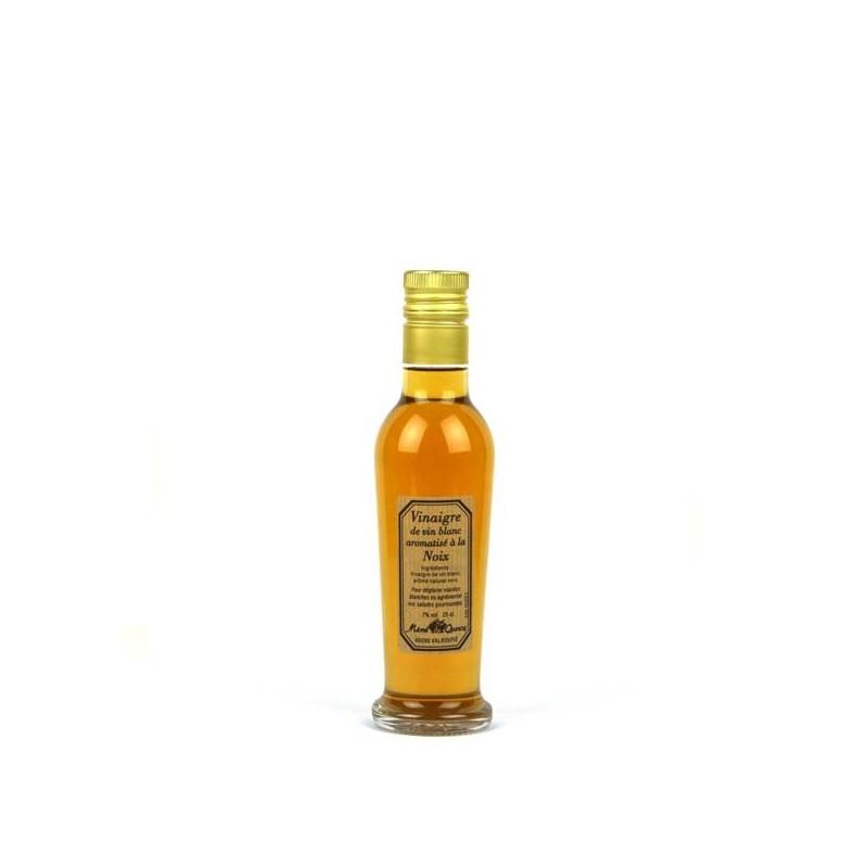 Vinaigre de vin blanc aromatisé à la noix - 25 cl