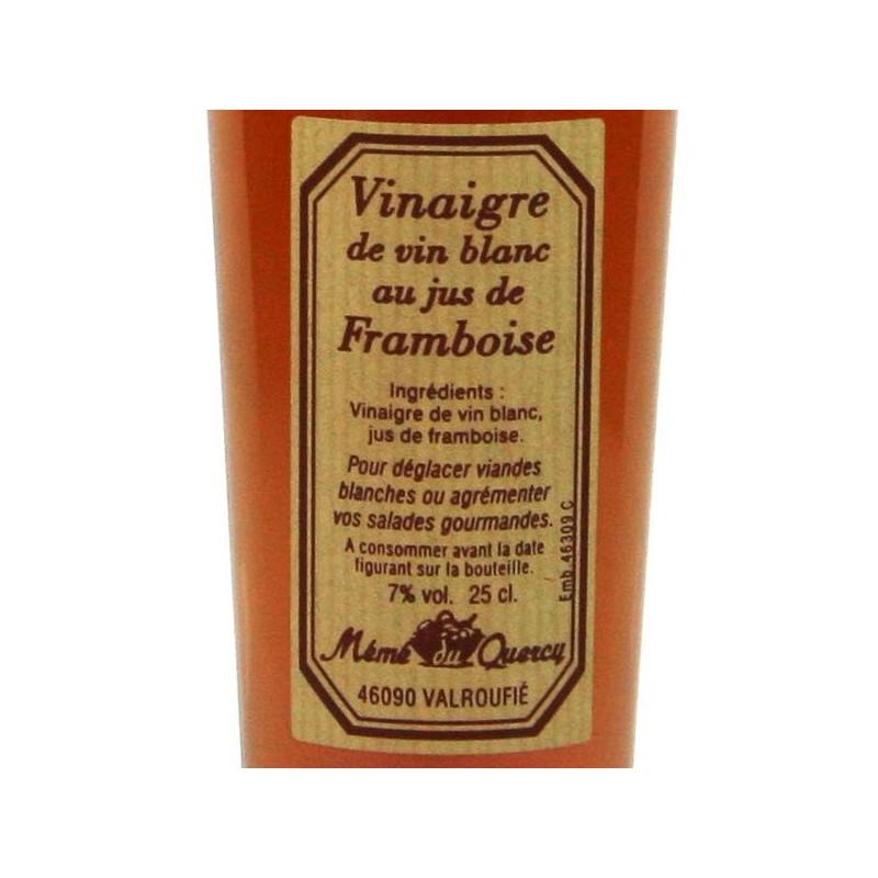 Vinaigre de vin blanc au jus de framboise - 25 cl