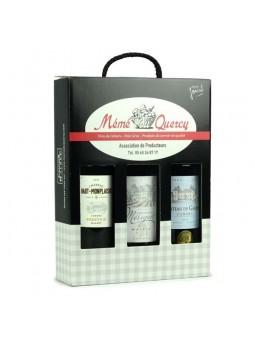 Coffret de 3 bouteilles de vin de Cahors AOC Prestige