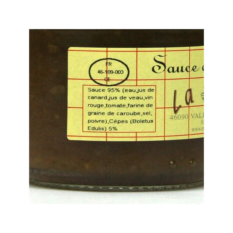 Sauce aux cèpes 5% - 100 gr