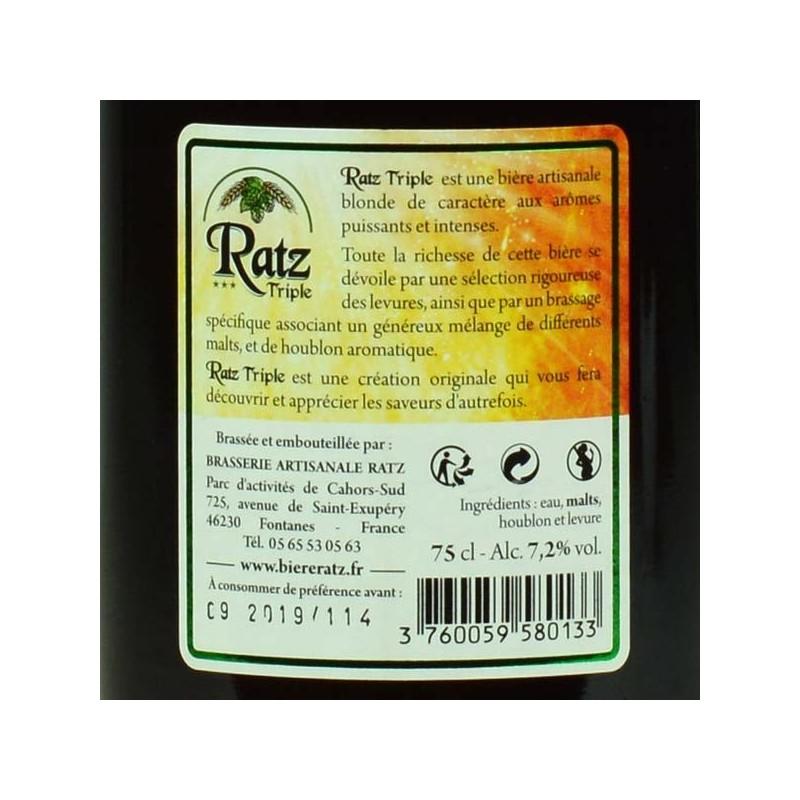 Bière RATZ Triple - 75 cl