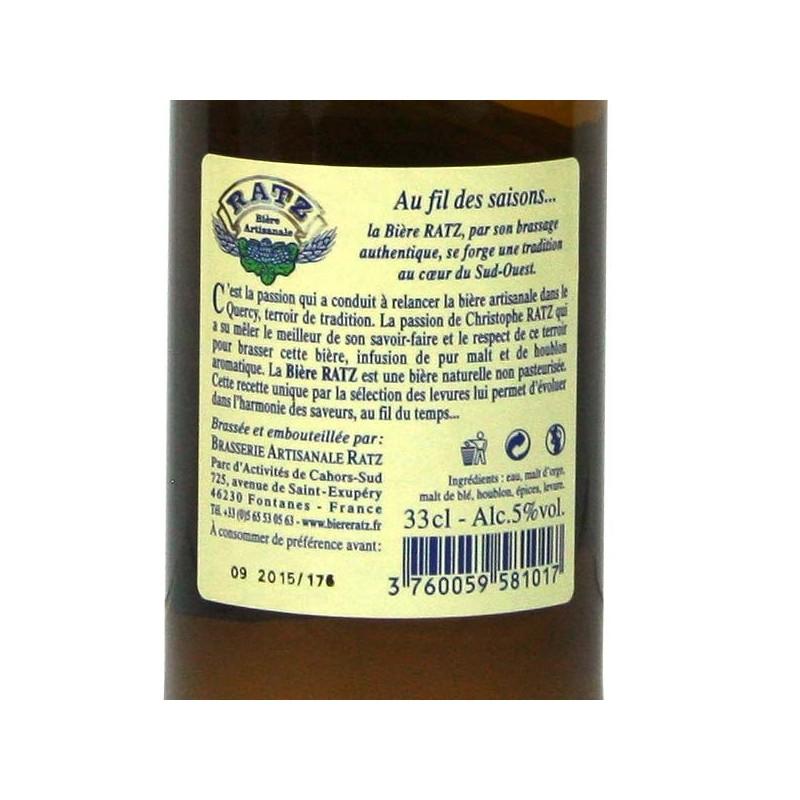 Bière RATZ Blanche - 33 cl