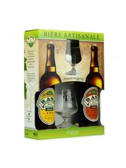 Le Brasseur coffret 2 bière ratz 75 cl et 2 verres