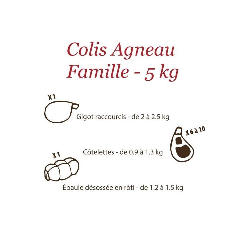 Colis Agneau Fermier du Quercy Famille - 5 kg