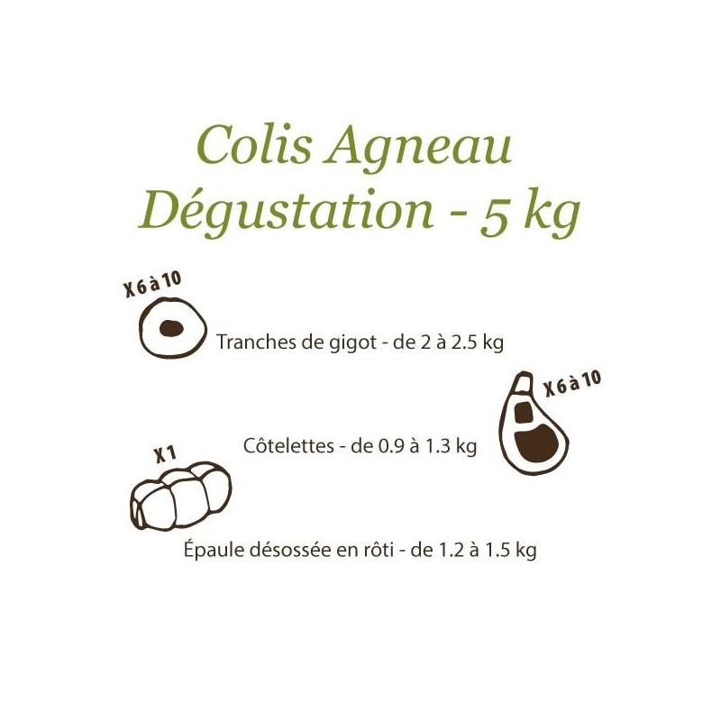 Colis Agneau Fermier du Quercy Dégustation - 5 kg