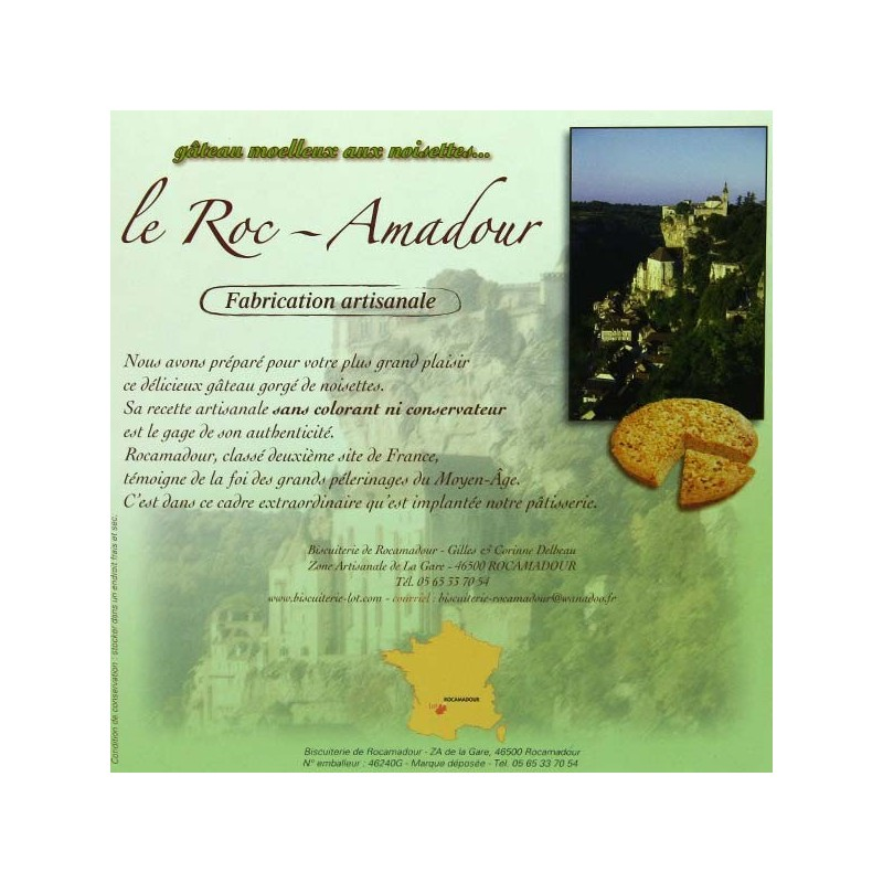 Le Roc-Amadour aux noisettes - 220 gr