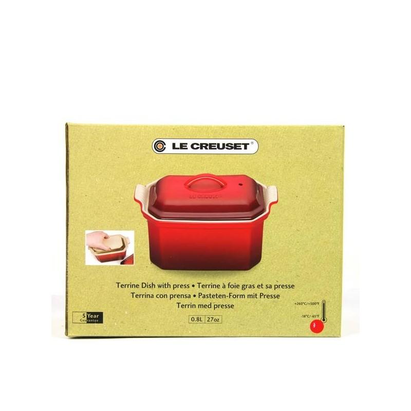 Terrine à foie gras Le Creuset et sa presse - 0.6 L